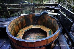 Bagby Hot Springs. Tub on the Upper Level.